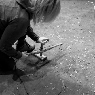 Trying a hand at bow drill
